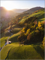 Premiumposter Autumn in the valley, South Tyrol, Italy