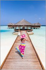 Premiumposter  Woman in a luxury resort, Maldives - Matteo Colombo