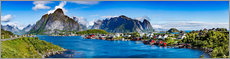 Premiumposter  Panorama of Lofoten Archipelago - Art Couture
