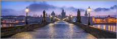 Premiumposter  Panorama of the Charles Bridge in Prague, Czech Republic - Jan Christopher Becke