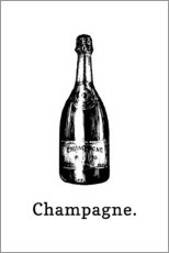 Premiumposter Champagne bottle