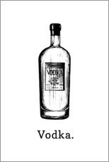 Akrylglastavla  Vodka. - Typobox