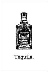 Aluminiumtavla  Tequila bottle - Typobox
