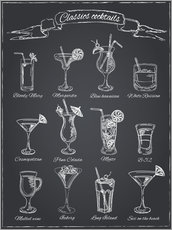 Canvastavla  Classic cocktails - Typobox
