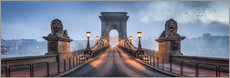 Premiumposter  Chain Bridge in Budapest, Hungary - Jan Christopher Becke
