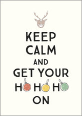 Akrylglastavla  Keep calm and get your Hohoho on - Typobox