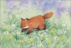 Akrylglastavla  Fox in the meadow - Michelle Beech