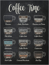 Premiumposter  Coffee Time - Typobox