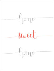Premiumposter  Home sweet home - Typobox