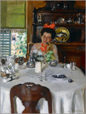 Premiumposter Woman at a table
