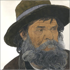 Premiumposter  Portrait of an old man - Ernest Bieler