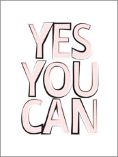 Premiumposter Yes You Can - Ja, du kan