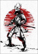 Premiumposter Red Sun Samurai