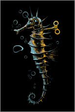 Premiumposter Mechanical seahorse