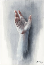 Premiumposter Study of a hand