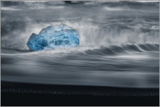 Premiumposter An iceberg in the waves