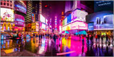 Premiumposter  Times Square New York after the rain - Haussmann Visuals