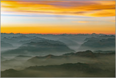 Premiumposter Morning mist in the swiss alps 2