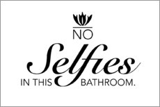 Självhäftande poster  No selfies in the bathroom - Typobox