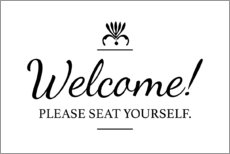 Canvastavla  Please seat yourself - Typobox