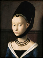 Canvastavla  Portrait of a young woman - Petrus Christus