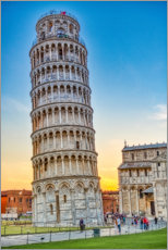 Premiumposter The leaning tower of Pisa
