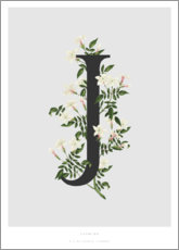 Canvastavla  J is for Jasmine - Charlotte Day