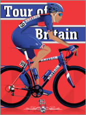 Premiumposter Tour of Britain - cykeltävling