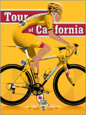Premiumposter Tour of California - cykeltävling