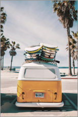 Premiumposter Surfer Van - Florida feeling