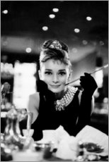 Canvastavla  Audrey Hepburn in Breakfast at Tiffany's - Celebrity Collection