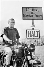 Aluminiumtavla  Steve McQueen i The Great Escape - Celebrity Collection