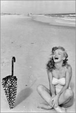 Akrylglastavla  Marilyn Monroe på stranden - Celebrity Collection