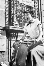 Premiumposter  Audrey Hepburn på en Vespa - Celebrity Collection