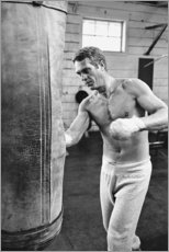 Akrylglastavla  Steve McQueen vid boxning - Celebrity Collection