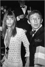 Aluminiumtavla  Jane Birkin och Serge Gainsbourg - Celebrity Collection