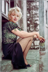 Akrylglastavla  Marilyn Monroe under en filmpaus - Celebrity Collection