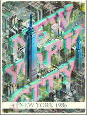 Premiumposter New York City med Empire State Building