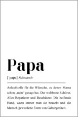 Poster Papa Definition
