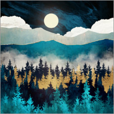 Aluminiumtavla  Evening Mist Landscape - SpaceFrog Designs