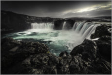 Premiumposter  Godafoss waterfall in Iceland - Christian Möhrle