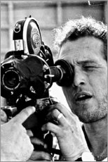 Galleritryck  Paul Newman med kamera - Celebrity Collection