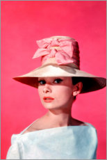Poster  Audrey Hepburn - rosa - Celebrity Collection