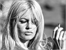 Premiumposter  Brigitte Bardot - fångad av vinden - Celebrity Collection