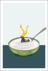 Premiumposter Yoga in my yogurt