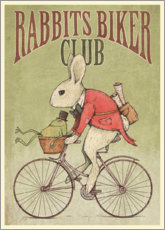 Canvastavla  Rabbits Biker Club - Mike Koubou