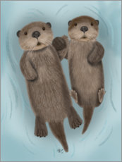 Premiumposter  Otter sibling - Fab Funky