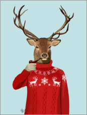 Premiumposter  Deer in sweater - Fab Funky