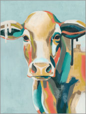Galleritryck  Colorful cow i - Grace Popp
