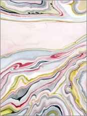 Poster Watercolor marbled I